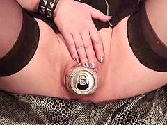 Beer can Pussy& Ass
