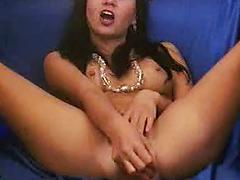 Latina Dildo Play And Squirt