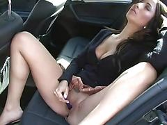 Hot Slut Masturbate Pussy In Public For Camera