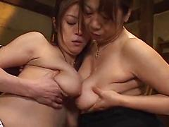 Two Sexy Asian Females Ggrind Each Others Pussys