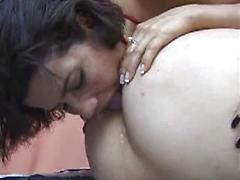 Two Ten Lesbians Licking Ass And Wet Pussy