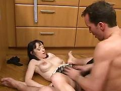 Sexy Housewife Puts Her Kitchen To Good Use