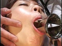 Dentist Checks And Gags A Vulnerable Hottie