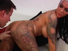 Tattooed Hottie Loves Dick In Her Eager Behind