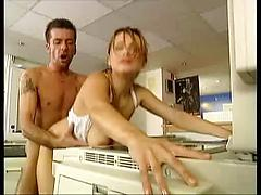 Russian Office Worker Gets Down And Dirty In The Office