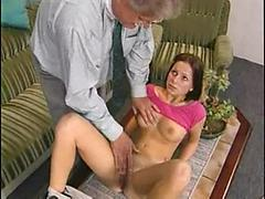 Shy Sexy Teen Satisfies Old Man