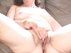 Mature Hairy Wet Pussy Gets Rubbed And Spread