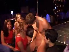 Male Stripper Gets His Cock Sucked In Night Club