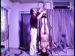 Tied Up Pregnant Asian Milf Enjoys Being Covered In Wax