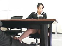 Businesswoman Foot Worship And Fuck Under Desk