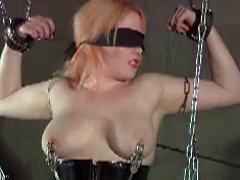 Strangled Tied Up Chained Blonde Getting Pleasure