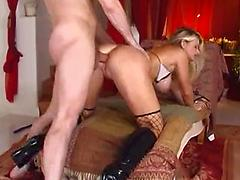 Blonde Slut Bends Over For A Cock In Her Ass
