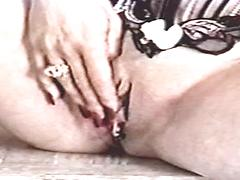 Small Tit Lady Spreads Open Her Pussy Lips