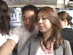 Asian Chick Turns On Some Men In The Bus