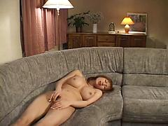 Lonely Girl Masterbates Her Pussy On The Sofa