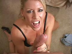 Hot Blonde Slut Loves To Suck Cock And Get Creamed
