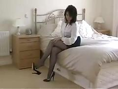 Mature and stockings