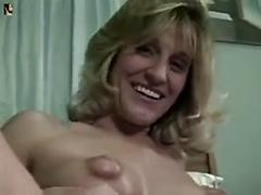 Milf with stunning puffy nipples sucks and fucks for the camera