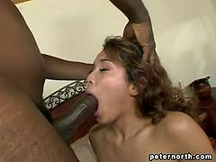 Rough ravage for a super-sexy latina who's ultra-kinky about black fellows!