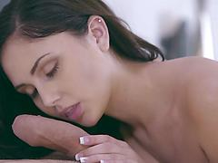 Buxom stunner Ariana Marie teases her stud in a matching brassiere and gstring then rocks his wo
