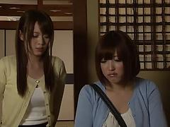 Two horny Japanese sluts get bound and fucked shitless