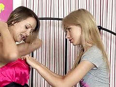 Young girls are not against to have some lesbian fun for the first time