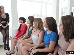 Hopeful Lesbian Applicants Lining Up For Pussy Evaluation