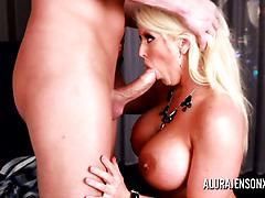 Busty MILF Gets Excited When Sucking Cock