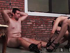 Late payment spanking and hand job