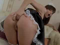 The Maid Keeps Her Asshole Nice And Clean For Her Master